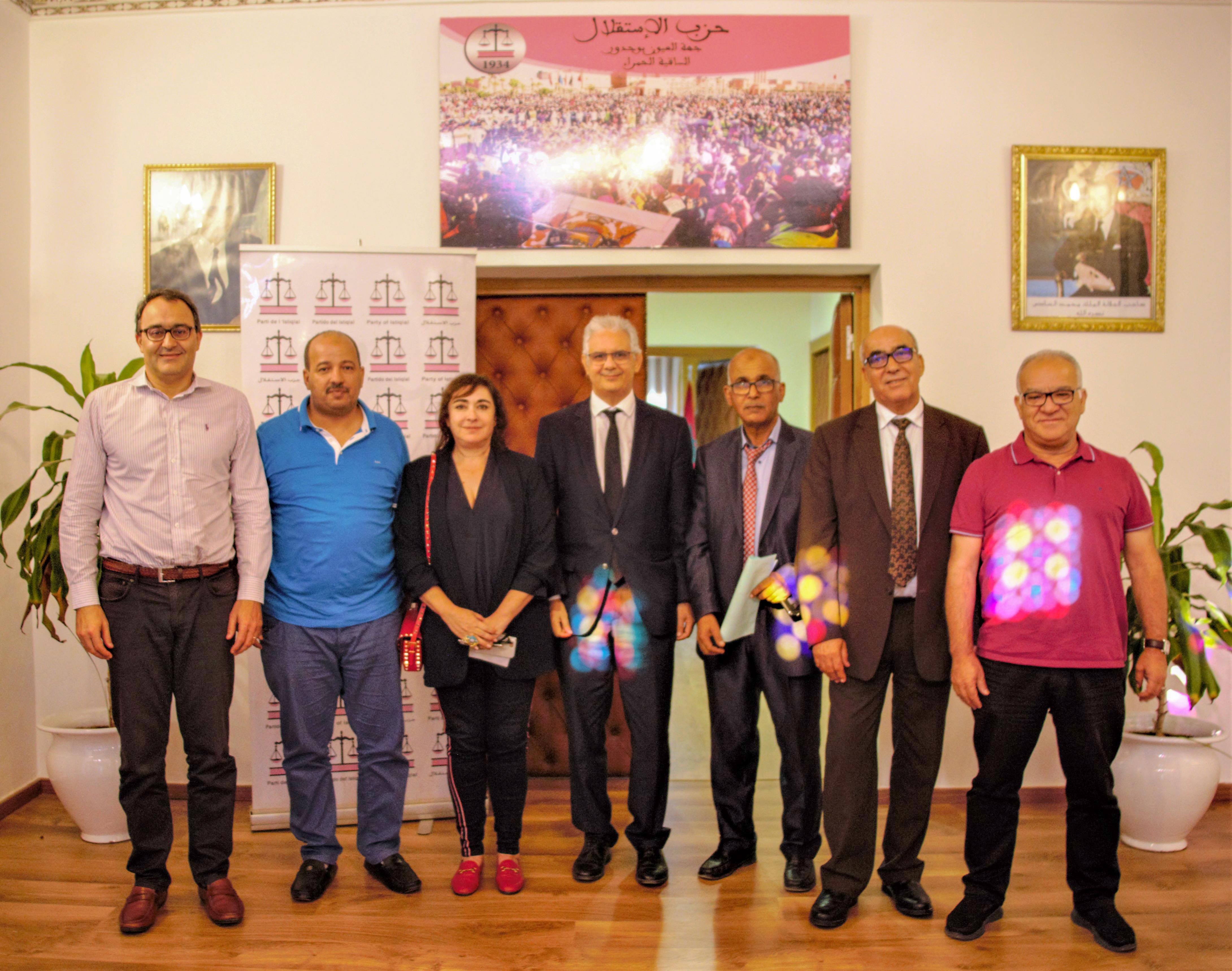 بركة يترأس اجتماع لجنة تنسيق وتطوير العمل الحزبي بالمدن الكبرى