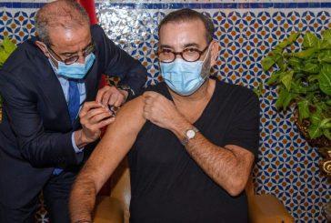 جلالة الملك يتلقى الجرعة الأولى من اللقاح المضاد لكوفيد 19