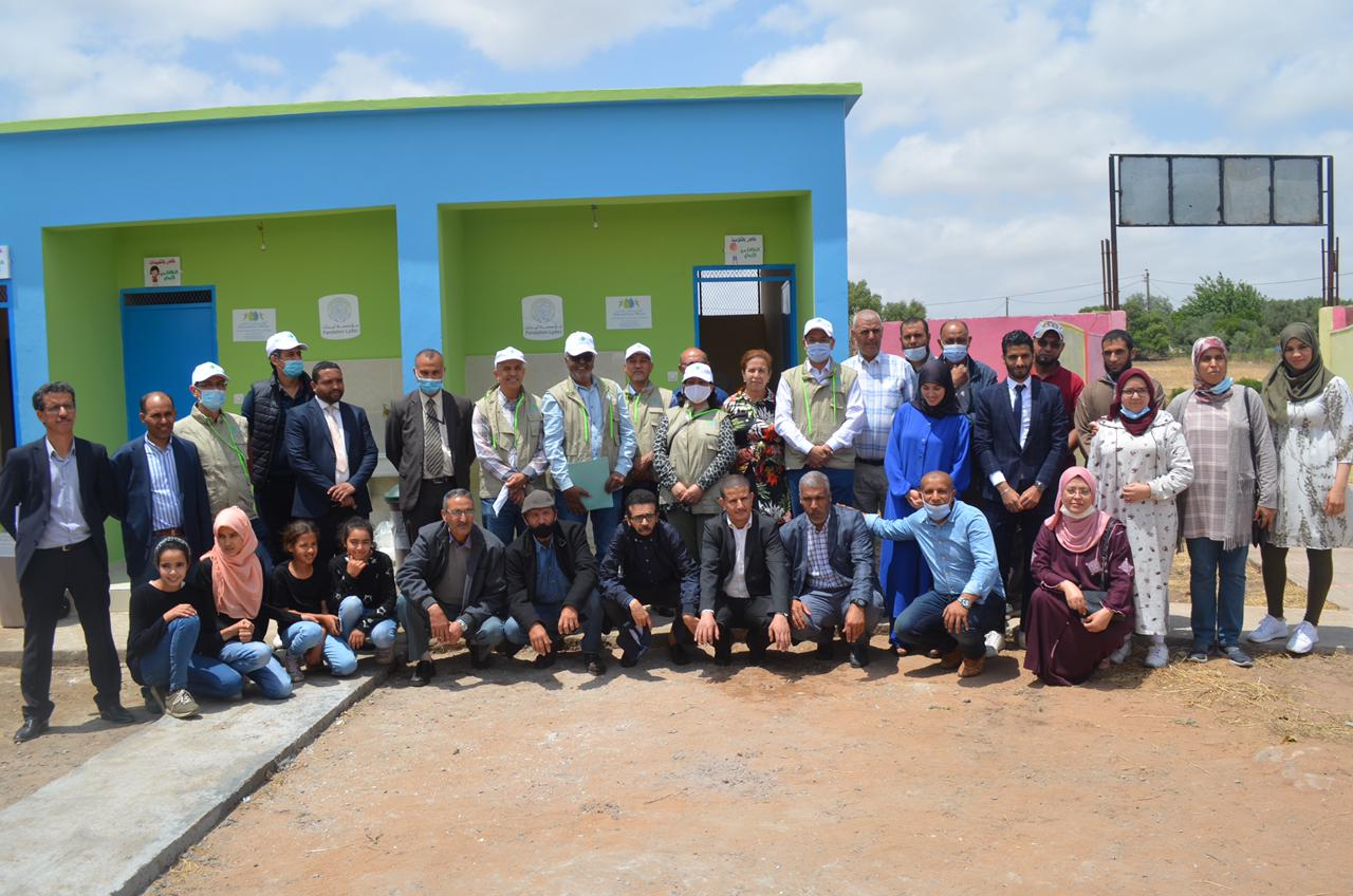 جمعية أكواسيستانس المغرب تنجز مرافق صحية بالوحدة المدرسية أولاد العباس بالكارة